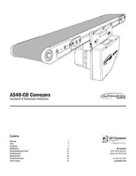 AS40-CD Conveyor Installation & Maintenance Manual